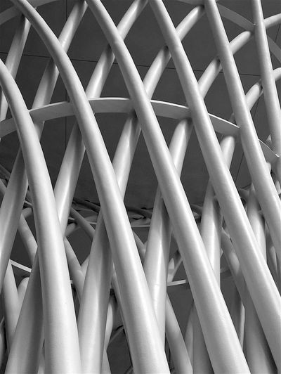 340 / 365 Abstract Blackandwhite Column Design Diagonals Metal Modern Pattern Shapes Spiral Structure Seeing The Sights White Album Fine Art Photography