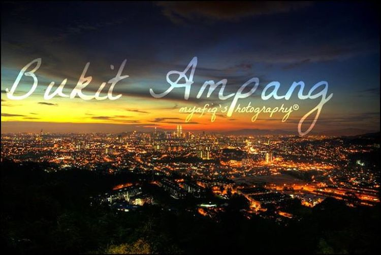 Scenary of the dawn at bukit ampang