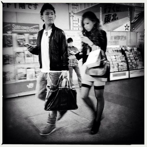 street photography at 秋葉原駅 東西自由通路 No Flash Street Photography AO BW Film