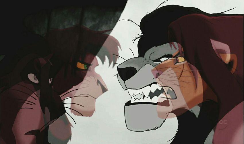Like father like son Lion King  Lion King 2 Simba Mufasa Scar Kovu