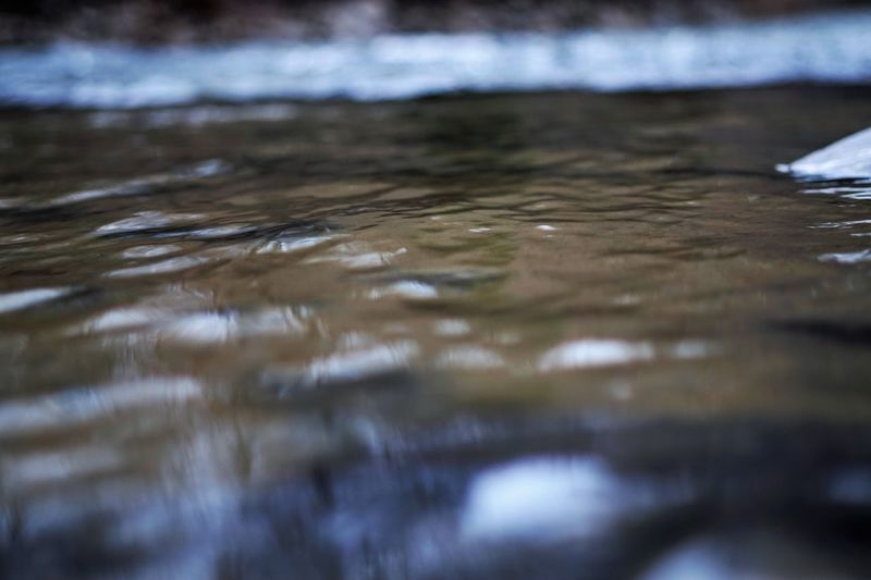 Surface level of water