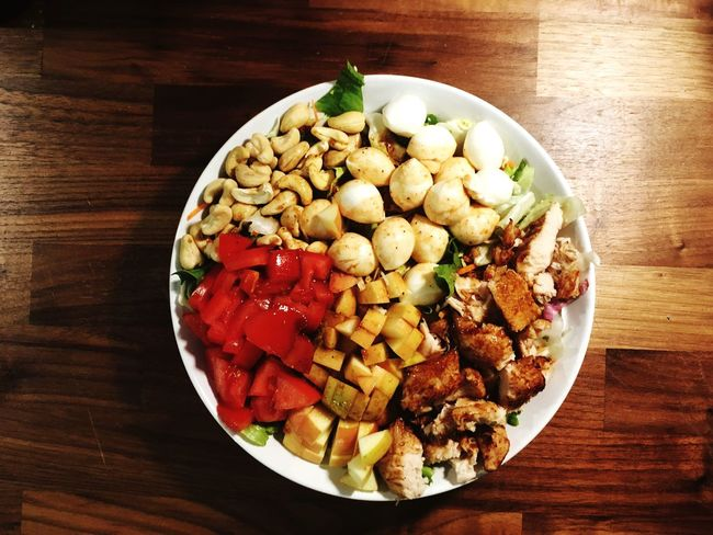 Daily Salad Healthy Eating Chicken Salad Cashews Lunch