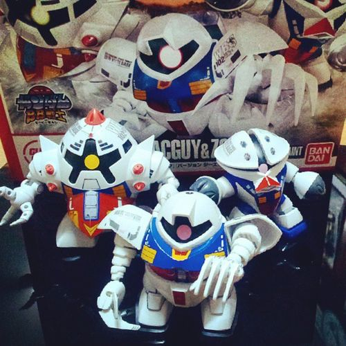 Finish!! My new collection of Gunpla... The tricolor paint of GGOG, ACGUY & ZOCK. Thank u @nipponmarche.. Gundam Gunpla Gogg Acguy Zock Tricolorpaint PLAMO