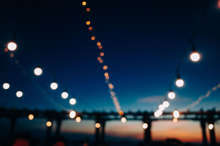 Before Sunset Blue Bokeh Clear Sky Dusk Fairy Lights Hoang Ann Illuminated Lighting Equipment Nature Night No People Outdoors Week On Eyeem