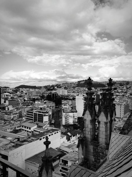 Basilica Quito Quito Ecuador City Architecture Gothic Style Cityscape Architecture Cloud - Sky City Urban Skyline Skyscraper Building Exterior Dramatic Sky City Life Travel Destinations Built Structure Sky Storm Cloud Downtown District