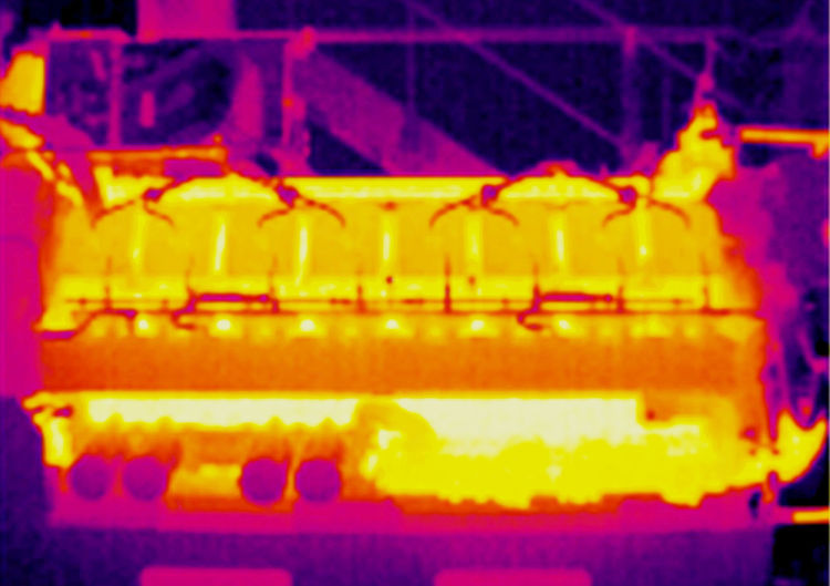 Heiß Und Kalt Industrial Maschine In Action Motor Temperatur Thermographie