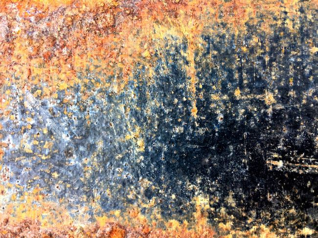 Full frame shot of Rusty texture on metal surface Full Frame Backgrounds No People Pattern Abstract Textured  Multi Colored Day Outdoors Built Structure Close-up Art And Craft Architecture Splattered Creativity Wall - Building Feature Weathered Orange Color Nature Water