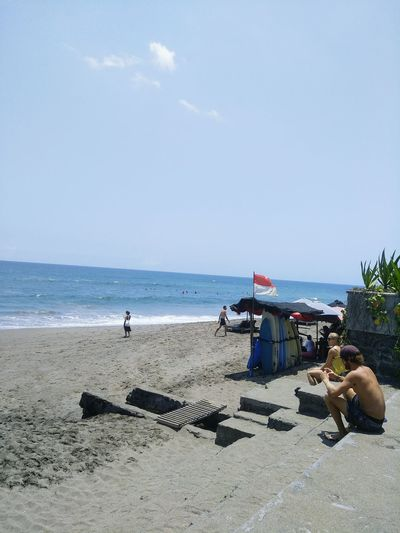 indonesia Beach Bali, Indonesia Happy :) Happiness Harmoni Natural Beauty Baliphotography Taksu Sea Beach Sand Occupation Lifeguard  Sky Horizon Over Water