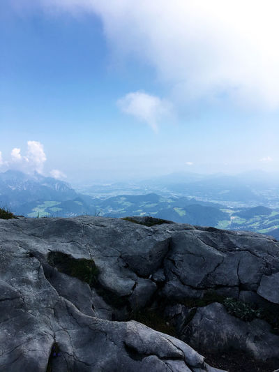 Bayern Germany Bavaria Beauty In Nature Scenics - Nature Mountain Tranquil Scene Landscape No People Rock Non-urban Scene Solid Day Idyllic Outdoors Eagles Nest Cloud - Sky Sky Tranquility Environment Nature Geology Deutschland Rock - Object Shapes In Nature
