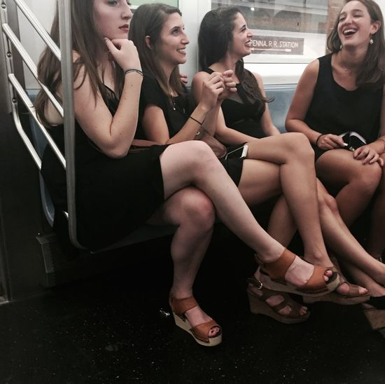 Girls Candid Strangers In Transit Casual Laughing Having Fun StevenBeijerEyeEmTakeover