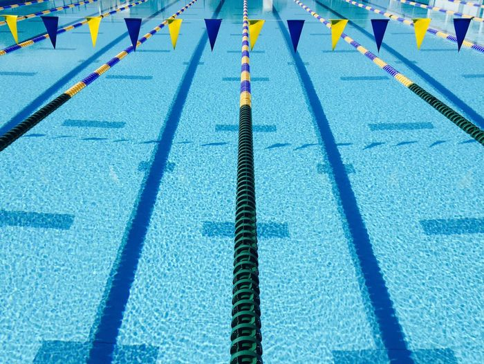 Swim fast 🏊🏻‍♀️ Swimming Lane Marker Swimming Pool Sports Race Sport Sports Track Blue High Angle View Starting Line No People Day Outdoors Blue Water Blue Color Swimming Swimmingpool Pool Sports Training Fresh On Market 2017