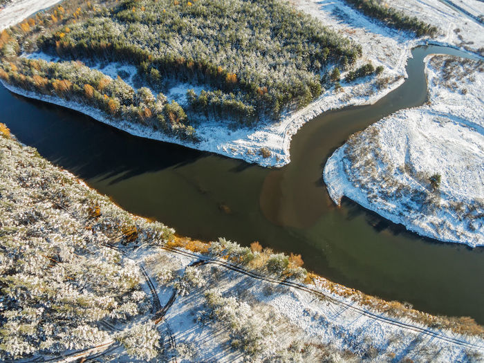Volchina river flows into the river Mologa. Winter. A Bird's Eye View Aerial View Beauty In Nature Close-up Day Dji Dji Phantom Drone  Landscape Mologa Nature No People Outdoors Phantom River Russia Snow Sunlight Top Perspective Volchina Water Water Reflections Winter