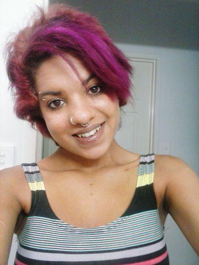 That's Me Hello World Enjoying Life Smile I Don't Care, I Love It Peircings Purplehairdontcare