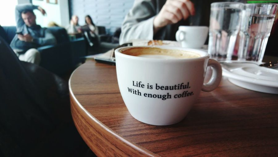 Focus Quote Quotes Focus Object Human Hand Cappuccino Drink Latte Cafe Frothy Drink Drinking Glass Coffee - Drink Milk Coffee Cup Hot Drink Coffee Shop Cafe Culture