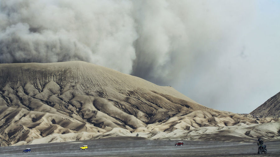 Smoke Emitting From Mt Bromo