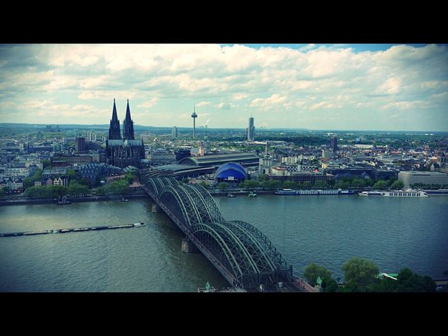 Cityscapes Cologne (Köln), Germany with the beautiful cologne cathedral, Deutzer Bridge and the Rhine Cologne Kolle Meinestadt