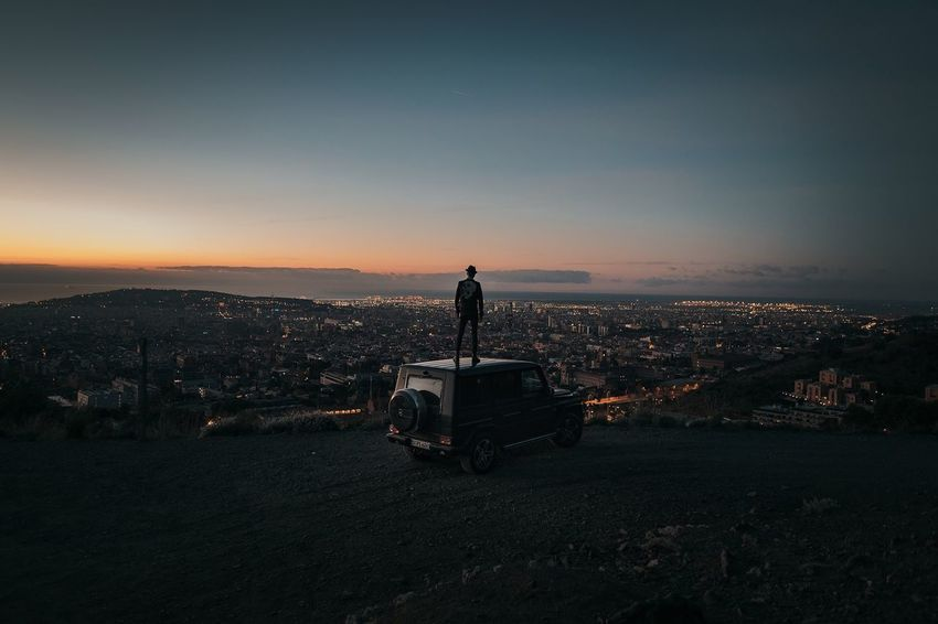 more than a city... | Mercedes Mercedes-Benz Mercedes Benz MBsocialcar G-Klasse G63 AMG AMG Power Sunset Product Photography Production MOVIE Erikdegen Canon Canonphotography Catchmeifyoucan Transportation Land Vehicle Real People Mode Of Transport Men Outdoors Leisure Activity Be. Ready. Be.Ready