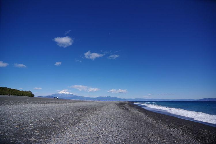 三保松原からの富士山 富士山 三保の松原 Mount FuJi Sand Landscape Scenics Blue Cloud - Sky Nature Beauty In Nature Mountain Outdoors Beach Sea Sky