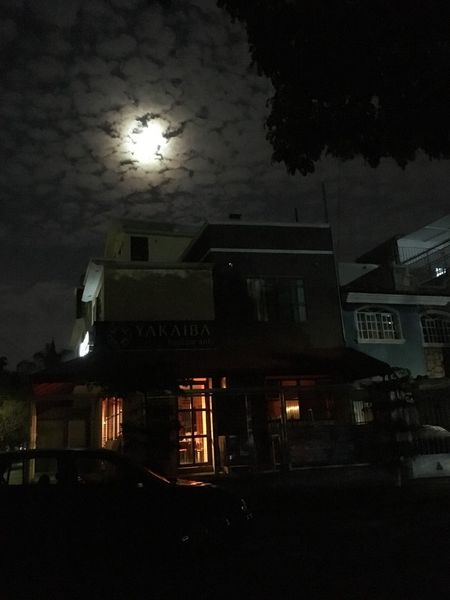 Architecture Built Structure Building Exterior Night Sky No People Illuminated Outdoors City Moon Cloud - Sky IPhone Sin Filtros caminata nocturna 👌🏼