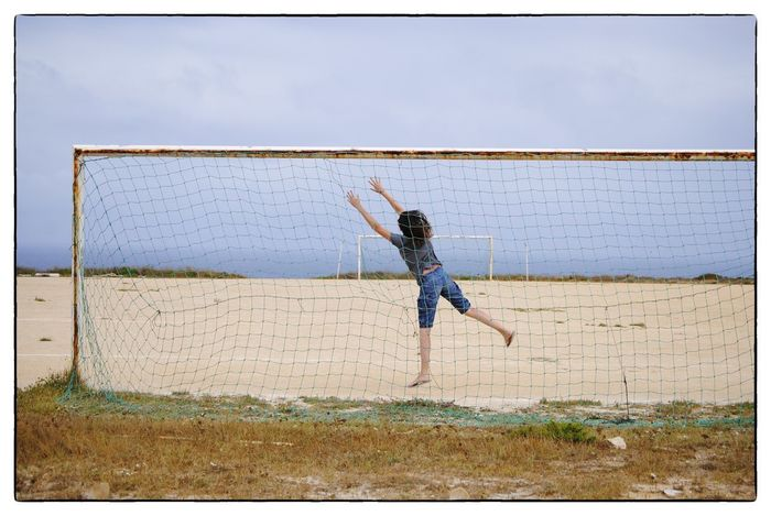 imaginary ball Women Sport Outdoors People Day Adult One Person Real People Sky Clear Sky Full Length