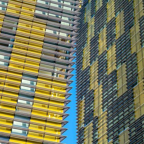 Yellow Buildings, Blue Sky Lasvegas Latergram Vegas  Buildings architecture travel