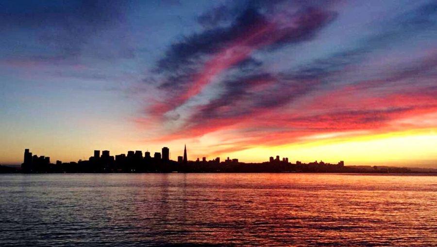 San Francisco Skyline Bay San Francisco Bay Sky Sky And Clouds