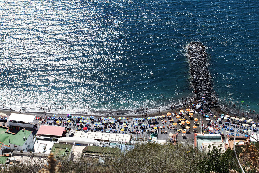 Architecture Building Exterior Built Structure Crowd Day High Angle View Large Group Of People Nature Outdoors People Sea Water