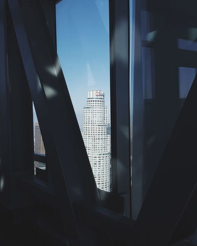 EyeEm Selects Skyscraper Window Architecture Modern Business Finance And Industry Built Structure No People Low Angle View Indoors  City Building Exterior Sky Day