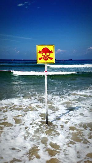 Monster EyeEm Enjoying Life Sea Dangerous Symbol Stop Attention Poison Hello World
