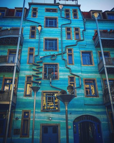 The Architect - 2017 EyeEm Awards Building Exterior Architecture Window Built Structure Low Angle View Blue GH4 Dresden