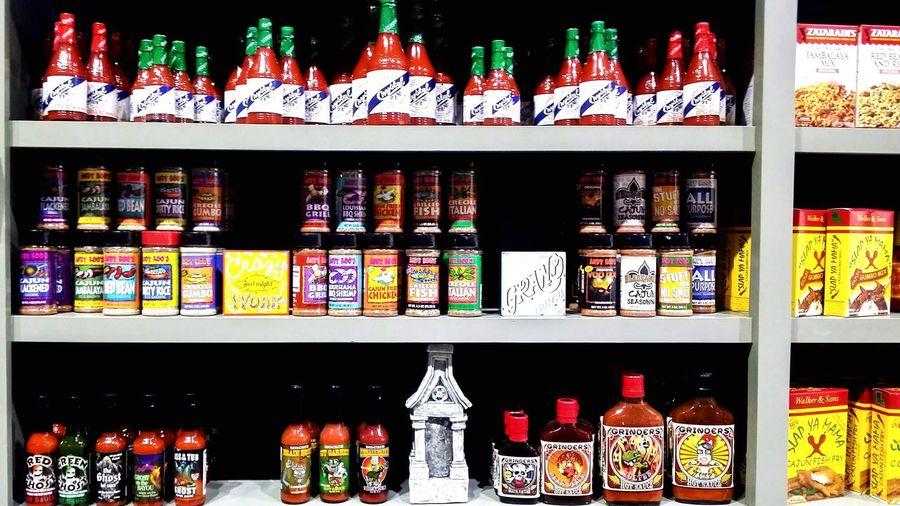 Variety of display at store