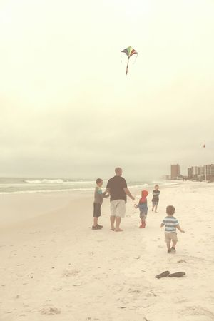 Family Family Vacation Flying A Kite On The Beach Life Is A Beach Lifestyle Photography Father & Son Water_collection Check This Out Bonding Preserving Memories Walking Around Fatherhood Moments