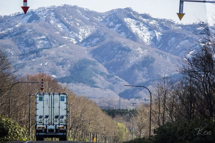 Challenge to crosses mountains!! Mountain Truck Beauty In Nature Fighter Working Hill Climbing Hokkaido Japan Transportation