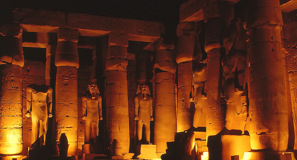 Sound and Light show - Great Temple of Karnak - Luxor, Egypt Architecture Spirituality Day History Ancient Illuminated Illumination Religion Indoors  Karnak Temple No People Sound And Light Son Et Lumière Place Of Worship Egyptian History Low Angle View Ancient Civilization Built Structure Old Ruin Architectural Column Orange Glow Statues/sculptures Ancient Civilizations
