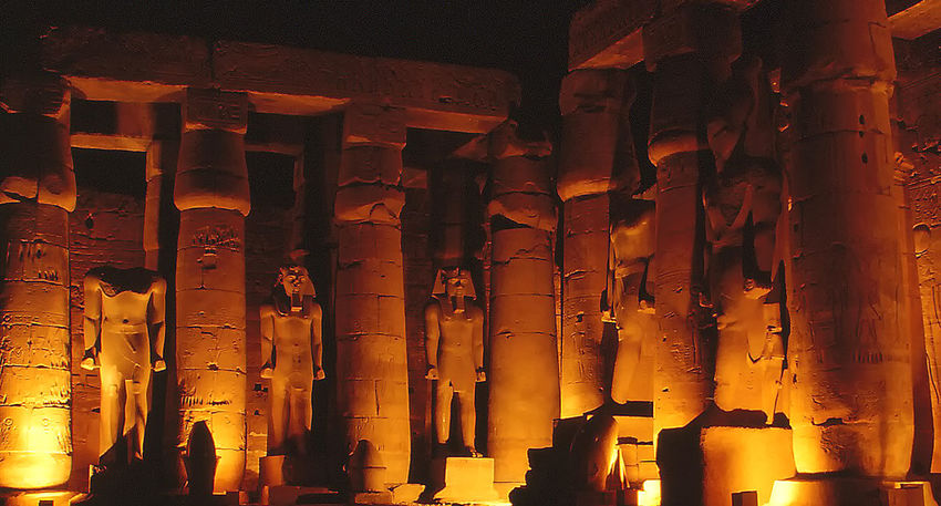 Sound and Light show - Great Temple of Karnak - Luxor, Egypt Architecture Spirituality Day History Ancient Illuminated Illumination Religion Indoors  Karnak Temple No People Sound And Light Son Et Lumière Place Of Worship Egyptian History Low Angle View Ancient Civilization Built Structure Old Ruin Architectural Column Orange Glow Statues/sculptures Ancient Civilizations HUAWEI Photo Award: After Dark