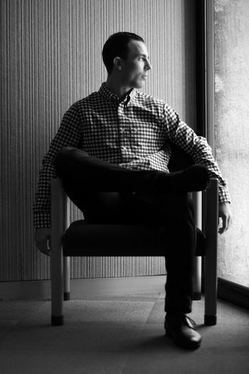 Pure natural light. Adult Adults Only Blackandwhite Day Full Length Indoors  Man Men One Man Only One Person Only Men People Portrait Sitting Young Adult Young Men The Portraitist - 2017 EyeEm Awards