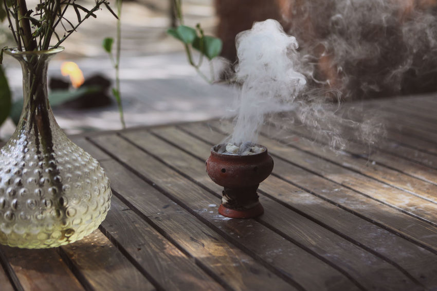 Burning Ceramic Pot Smoke Travel Incense Zen