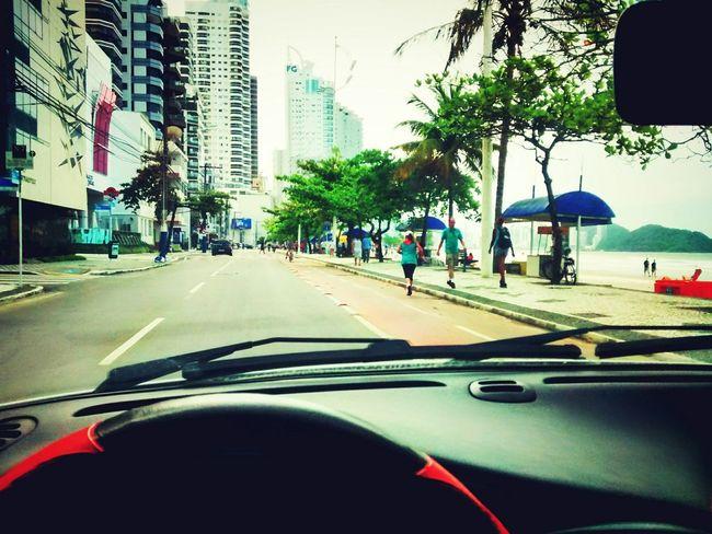 Praia Avenida Avenue Beach Beatiful Endwork Comehome Brasil Santacatarina  Car