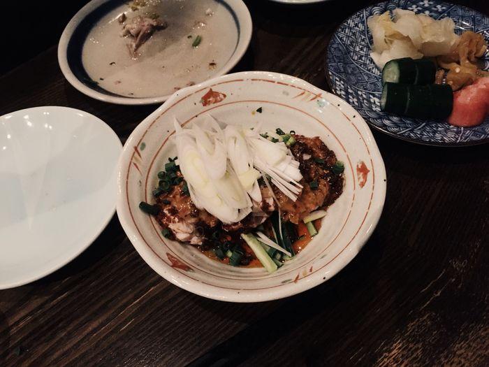 蒸し鶏の四川ソースは辛かった。そして湖弧艪美味しかった。 Japanese Food Yummy