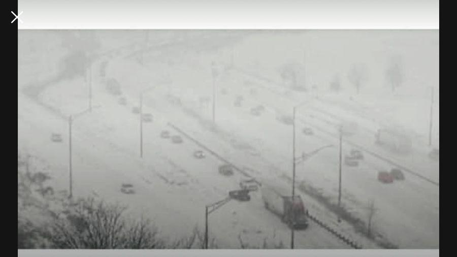 Snow Storm Kansas City Missouri  No People Auto Post Production Filter Architecture Built Structure Nature Transfer Print Plan My Best Photo