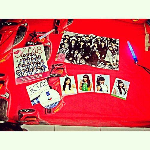 Itu masih sebagian, tapi aku ga wota :v Swag Jkt48 Photopack Lightstick poster OGB 48family collection instagood instamood AKB48