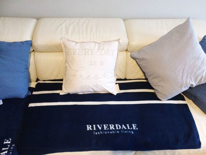Text Riverdale Indoors  Sofa No People Pillow Close-up Communication Western Script White Color Day Home Is Where The Art Is Home Interior Home Riverdaleliving