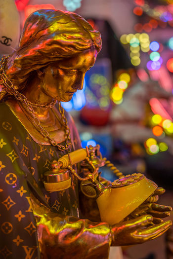 Neon signs and decorations at God's Own Junkyard in Walthamstow, London. Bright Colors Colourful Jesus Neon Signs City Lighting Close-up Gold Colored Neon Neon Lights Phone Urban Urban Lighting