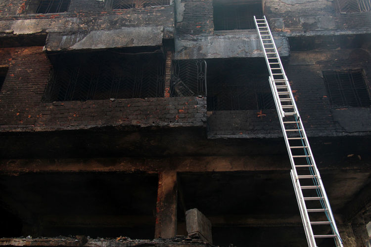 Architecture Built Structure Metal Ladder No People Industry Old Outdoors Abandoned Bridge Bridge - Man Made Structure Construction Industry Rusty Weathered Low Angle View Factory Burning Burn Burn Building