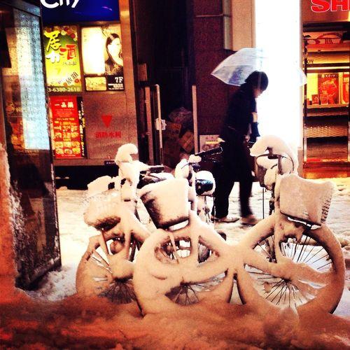 Tokyo,Japan Snow ❄ Bicycle