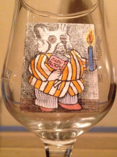 "I Made this little 1"" portrait of my dog Riggs in a small liquor glass ? Beautiful Art Portrait Taking Photos"