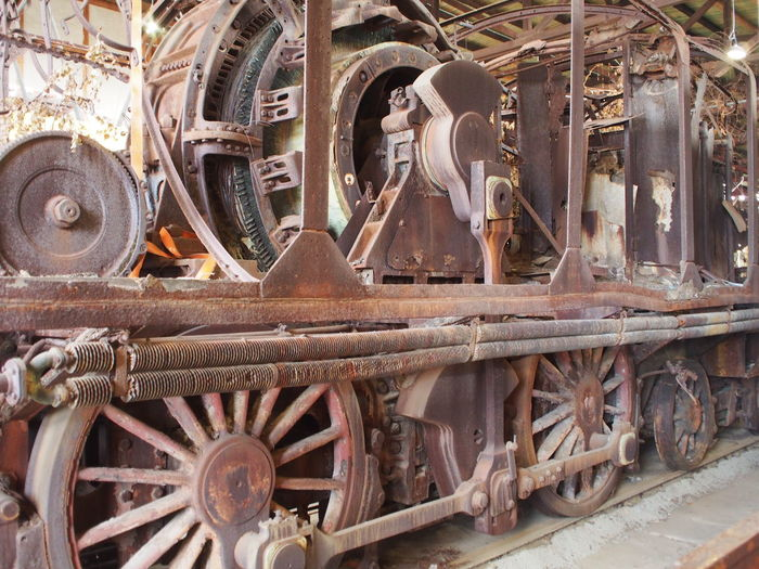 I think this old rusted machinery is a gigantic dynamo producing electricity by being pulled in as part of a train. I think it looks awesome. Dynamo History Rusty Train