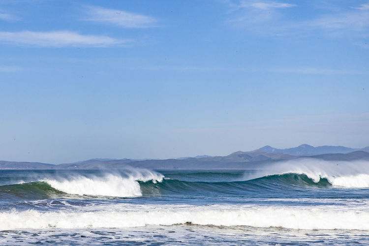 Pacific waves in morro bay.