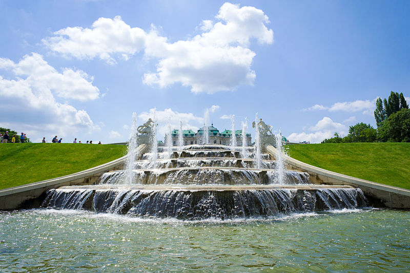Fountain At Belvedere Palace