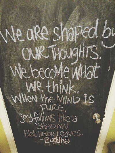 Buddha Quotes Chalkboard Wall